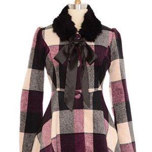 Jackets & Blazers - ModCloth ryu plaid swing coat